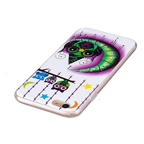 "Apple iPhone 6 Plus / 6S Plus 5.5"" Hülle, SATURCASE Schönes Muster Leuchtend Fluoreszierend Ultra Dünn Weich TPU Gel Silikon Schützend Zurück Case Cover Handy Tasche Schutzhülle Handyhülle Hülle für A Muster-7"