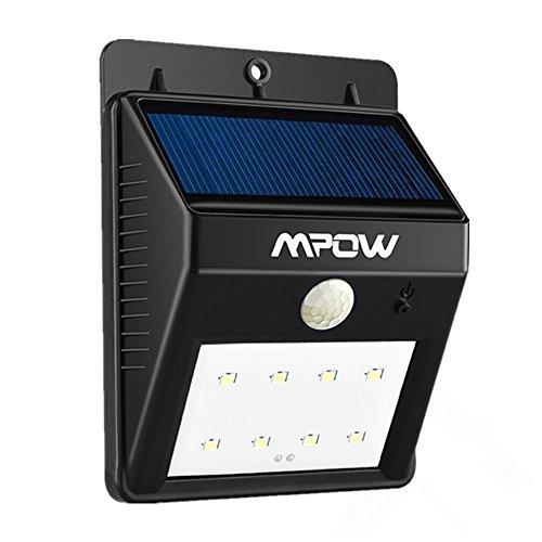 Mpow Luci Solari Lampada Wireless ad Energia Solare da Esterno con 8 Lampadine LED e Sensore di Movimento