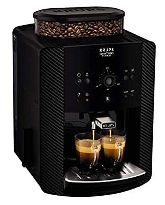 Krups Arabica Manual EA811K40 Automatic Espresso Bean to Cup Coffee Machine, Carbon