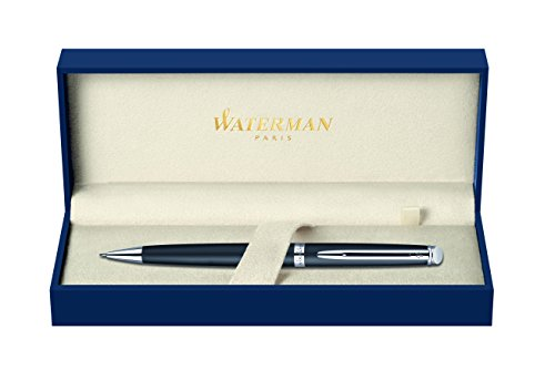 Waterman S0920890 Hemisphere Drehbleistift (0,5mm, Ausführung matte schwarz mit Palladium-Rand) (1/2 Matte)