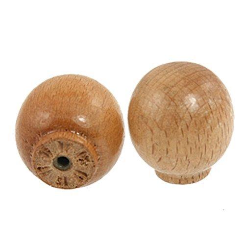 Holz Kabinett Pull (DealMux Kabinett Reparieren Teile 27mm Durchmesser Holz-Rund Pull Knöpfe 2 Stück)