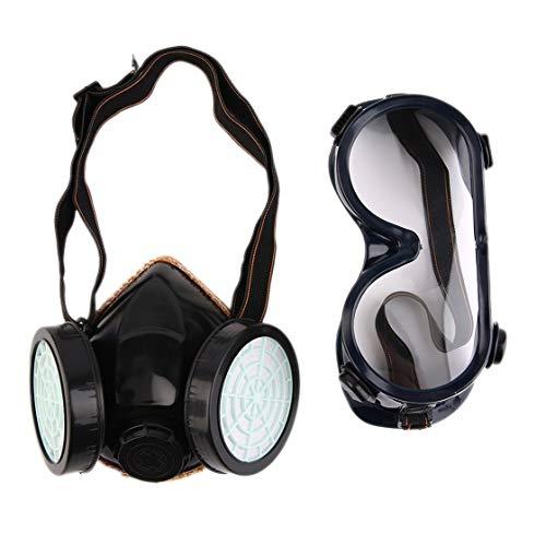 Nouveau filtre de protection double masque anti-gaz chimique anti-poussi