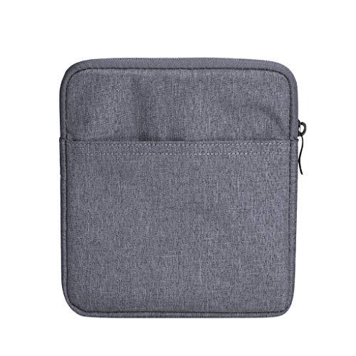 Fcostume Ärmeltasche Kompatibel für Amazon Kindle Oasis 3 7-Zoll-, Dual-Storage-Telefon Fall/Slot Wallet Reißverschlusstasche (Schwarz) Dual-telefon
