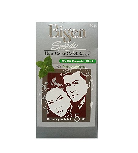 Bigen Speedy Hair Color, Brownish Black 882 (40g + 40g )