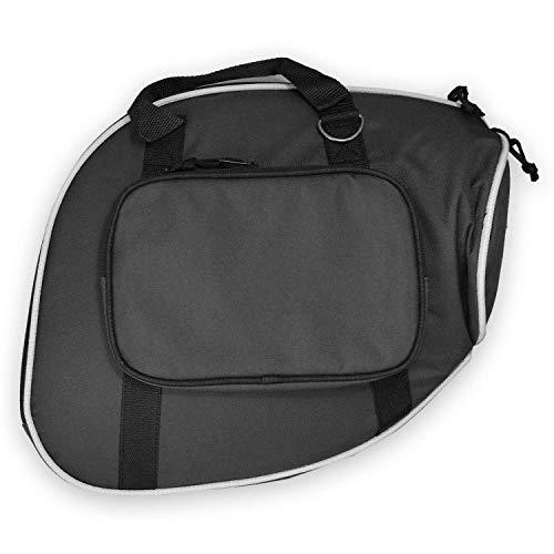 Gigbag für Jagdhorn/Posthorn/Fürst-Pless-Horn Schwarz Tuyama® Softcase gepolstert Tasche Koffer Farbe: Schwarz