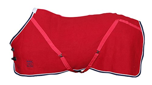 Amesbichler Wolldecke | Pferde-Wolldecke | Abschwitzdecke mit Kreuzgurten 2facher Brustverschluß