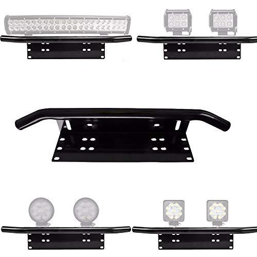 Einfache Installation Lizenz Nummernschild Rahmen Halter Led Light Bar Mount Frontstoßstange für Offroad Lkw Fahrzeug Platte Halterung -