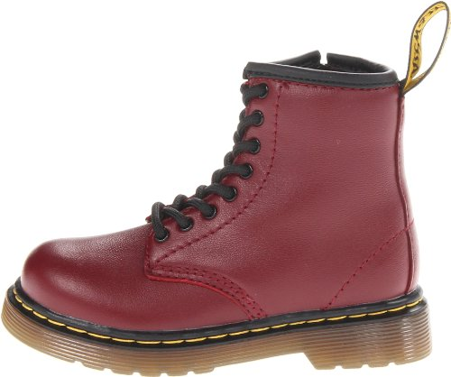 Dr. Marten's Brooklee B, Unisex-child Lace-up Boots, Cherry Red, 9 Child Uk