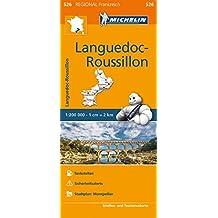 Michelin Languedoc-Roussillon: Straßen- und Tourismuskarte 1:200.000 (MICHELIN Regionalkarten)