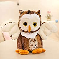anlala Big Eyed Ugly Owl Plush Toy Doll Doll Doll Doll Doll Doll Gift Girl Cute Super Ugly Ugly Small: Height 20Cm Owl Doll: Brown
