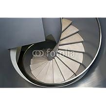 Escalera de caracol (76062921), aluminio-Dibond, 140 x 90 cm