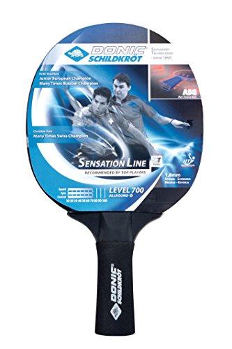 Donic-Schildkröt Tischtennis Schläger Sensation 700 ASG Anti Shock Grip, Schwarz, One Size, 734403
