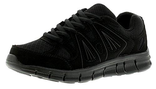 New Older Boys/Childrens Black Lace Ups Pumps/Trainers - Tripple Black - UK SIZE 4