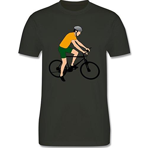Radsport - Fahrradfahrer Citybike Radfahrer - Herren Premium T-Shirt Army Grün