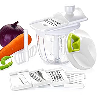 Aibesser vegetable slicer manual onion cutter onion chopper with pulley multi-functional, multi-function chopper for vegetables, fruits, meat vegetable slicer