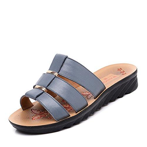 l'estate Lady di pantofole/Soft Zeppe alla fine del medio e vecchia età scarpe/Pantofole della madre A