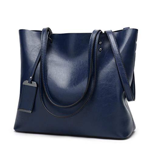 CBJMF Umhängetasche Wachsen des Eimers bauscht Sich einfache weibliche Schulterbeutel des doppelten Bügels für Frauen-Kuriertaschen-Dame Allzweck-Einkaufstasche -