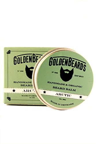 Bio Bart Balsam - Arctic- 30ML | 100% Natürlich | Jojoba & Argan & Aprikose Öl + Pfefferminze, Orangen, Teebaum -