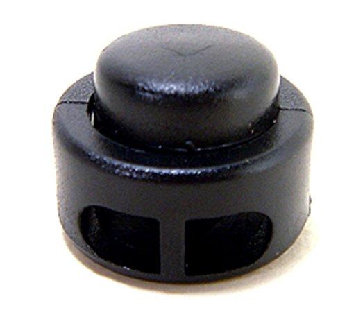 FMS Doppelloch Wasserkocher Drum Cord Lock-Kunststoff Frühling Stopp Toggle Stopper, Schwarz