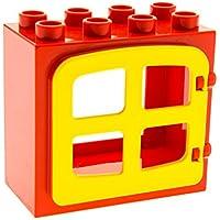 LEGO Bausteine & Bauzubehör 1 x Lego Duplo Fenster Tür rot flach 2x4x3 4 Scheiben eckig hell grün 2206 61649