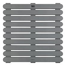 Wenko Stecche di doccia 55 x 55, Plastica, grigio, 55 x 55 x 0,3 cm