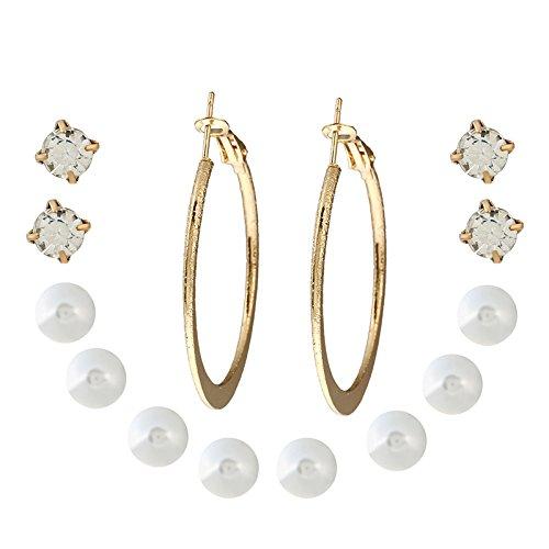 CTGVH Einfache Elegante Art-Perlen-Ohrstecker für Mädchen-Frauen, 7 Paare Personalisierte Band-Ohrringe Diamanten-Bolzen Set Großes Geschenk für Frau Lady (Mode-ohrring-bolzen-sets)