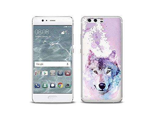 etuo Huawei P10 Handyhülle Schutzhülle Etui Hülle Case Cover Tasche für Handy Fantastic Case - Traumwolf