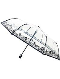 SMATI Parapluie transparent pliant - Automatique - Compact - Solide - Aminal