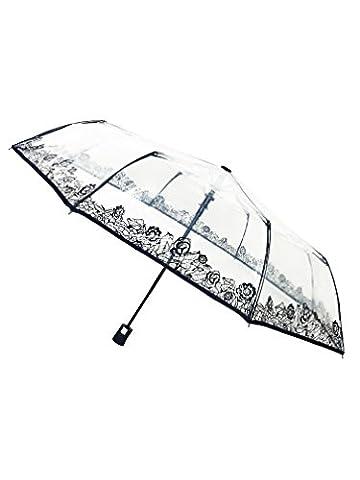 SMATI Parapluie animal pliant transparent - automatique - compact -