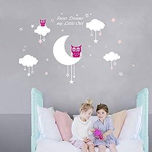 Bdecoll-sweety-dreams-my-litter-owlVinilo-decorativoAdhesivo-mural-decorativo-de-vinilovinilo-Natural-Tema-pared-arte-beb-guardera-adhesivo-rosa