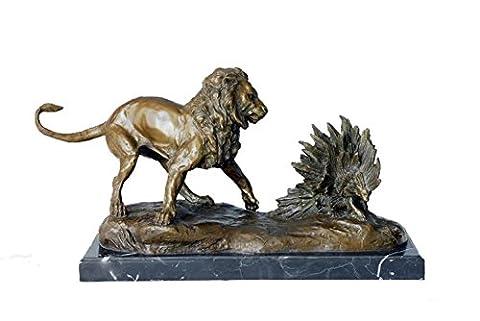 Toperkin Bronze Statues Animal Sculptures Lion Figurines Hand-made Garden Statue TPAL-112