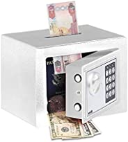 Rubik Mini Cash Deposit Drop Slot Safe Box with Key and Pin Code Option