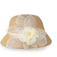 sombrero de la señora, la primavera y el verano sombrero de ropa de moda, sombrero para el sol, protector solar millinery
