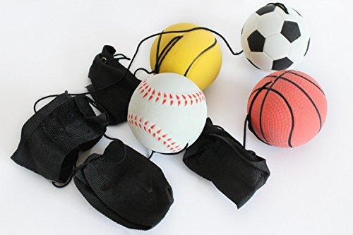 Unbekannt 4er Set Springball Armband & Schnur Fußball Basketball Tennis Baseball (9800010)