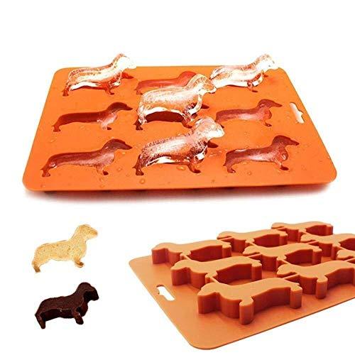 Eis Rod Mold Ice Lolly Moulds Eiswürfelform - Silikon Dackelform Welpenform Eiswürfelschale zur Herstellung von Eiswürfeln/Schokolade/Süßigkeiten/Bellen
