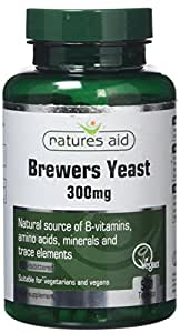 Natures Aid Brewers Yeast, 300 mg, 500 Tablets (Natural Source of B-Vitamins, Amino Acids, Minerals and Trace Elements, Vegan Society Approved, Made in the UK)