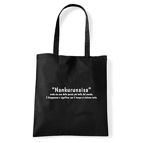 Art T-shirt, Borsa Shoulder Nankurunaisa, Shopper, Mare Nero