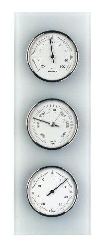TFA Dostmann 20.3020.02 - Estación meteorológica de cristal mate