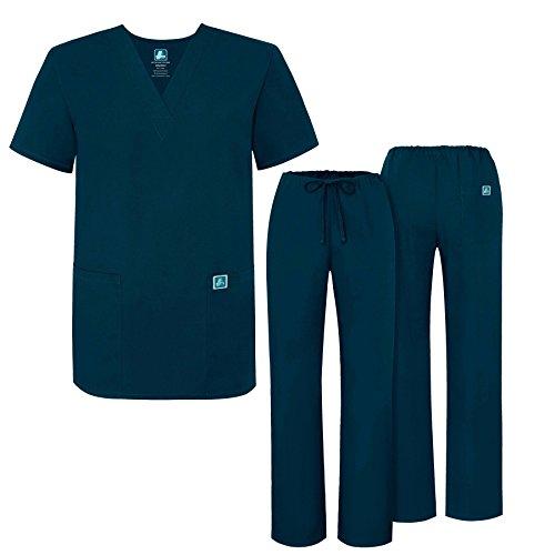 Adar Uniformi Unisex Set Camice – Uniforme Medica con Maglia e Pantaloni - 701 Colore: CBB | Dimensione: M