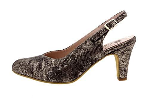 Zapato Cómodo Mujer Salón Metal Vison 8210 PieSanto