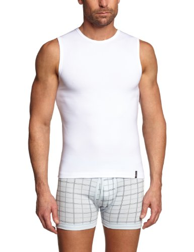 Skiny Herren Unterhemd SKINY Essentials Men / 6326 Hr. Tank Top, Gr. 8 (XXL), Weiß (0500 WHITE) (Top Tank Pyjama)