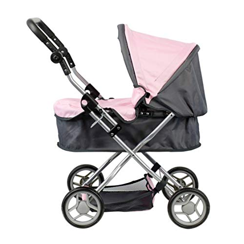 Doll Stroller - Carro capota - Manillar regulable en altura: 45 - 72 cm - plegable