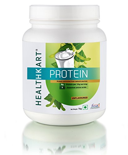 Healthkart Protein - 80% All Natural Plant & Milk Protein, Unflavoured-2.2 Lb/1Kg
