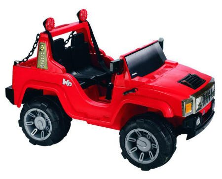 COCHE TODO TERRENO HUMMER STYLE PEKECARS RED 12V FM