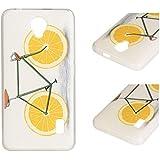 Para Huawei Ascend Y635 (5 pulgadas) Cáscara ZeWoo® Carcasa y Funda de Silicona - YG013 / bicicleta de limón