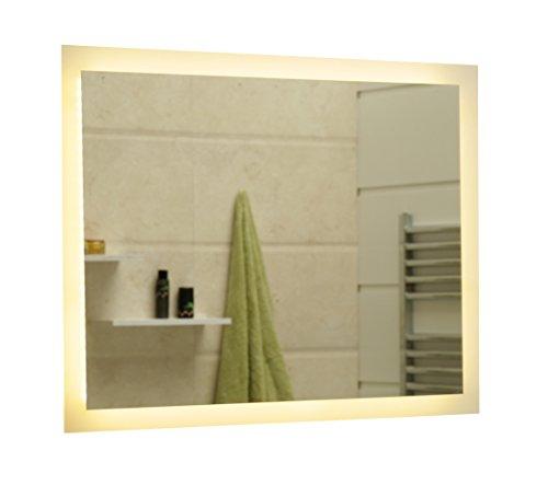 Specchio Del Bagno Con Illuminazione LED GS084N Bianco Caldo IP44 (100 x 70 cm)