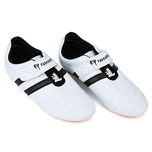 Scarpe Taekwondo, Arti Marziali Trainning Shoes Sneaker Boxe Karate Kung Fu Tai Chi Scarpe Stripes Sneakers per Uomo Donna Bambini Adolescenti Ragazzi Ragazze(41 Size Suitable for 245mm Foot Length)
