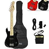 3rd Avenue STX30BKPK Junior Electric Guitar Pack, Black