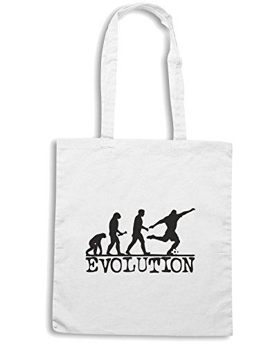 T-Shirtshock - Borsa Shopping OLDENG00071 evolution soccer Bianco