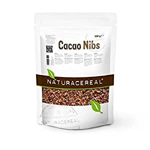 NATURACEREAL Kakao Nibs 500g - | vegan, rohköstlich, ballaststoffreich, gluten- und laktosefrei |